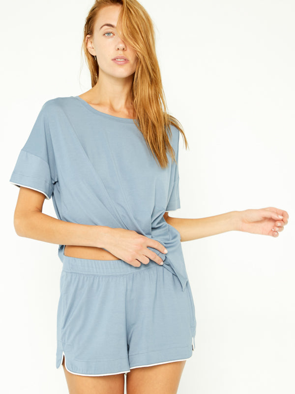 Sleep Tee Set - Cool Blue