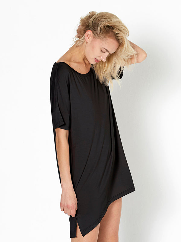 Night-Tee Sleep Dress - Black
