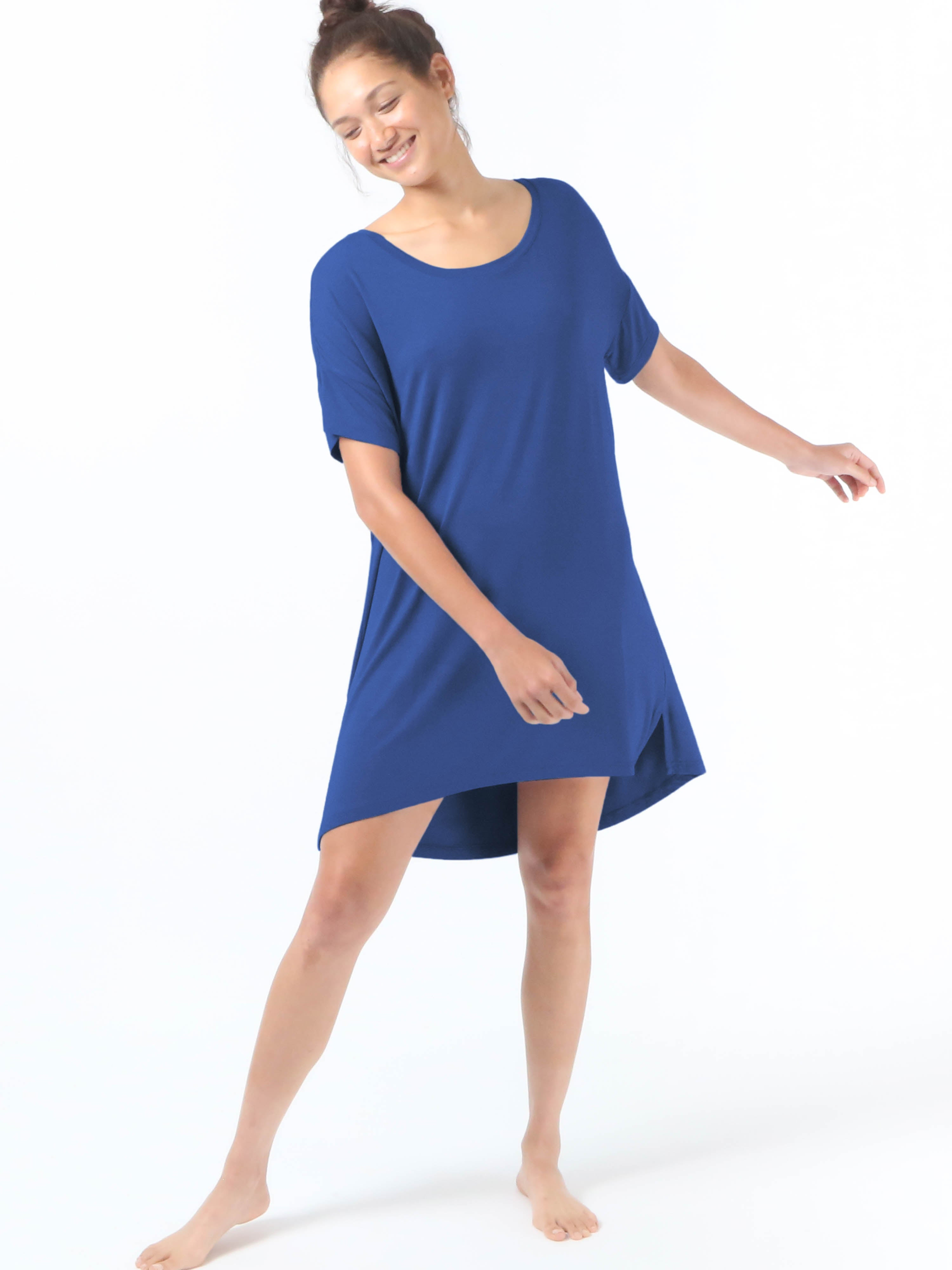 Night-Tee Sleep Dress - Navy Blue