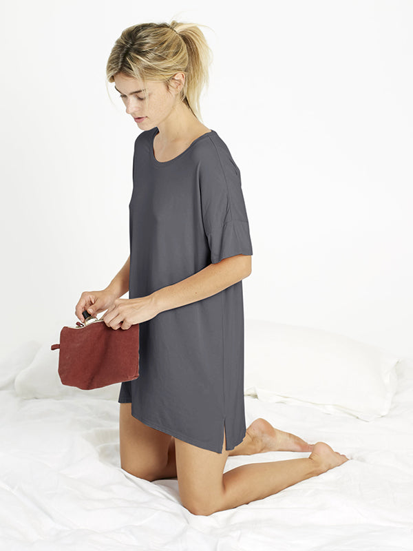 Night-Tee Sleep Dress - Slate