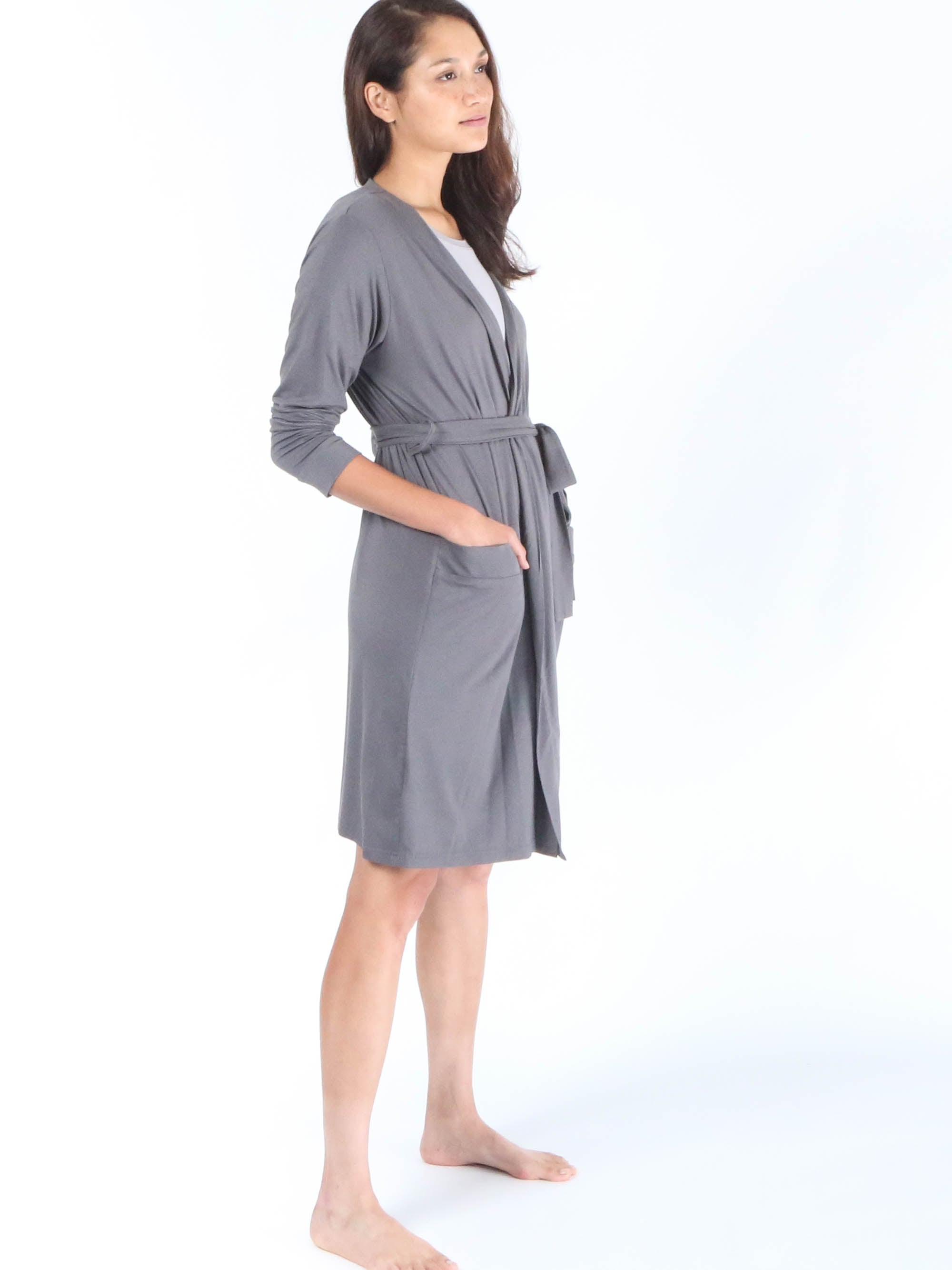 Shorty Robe - Slate