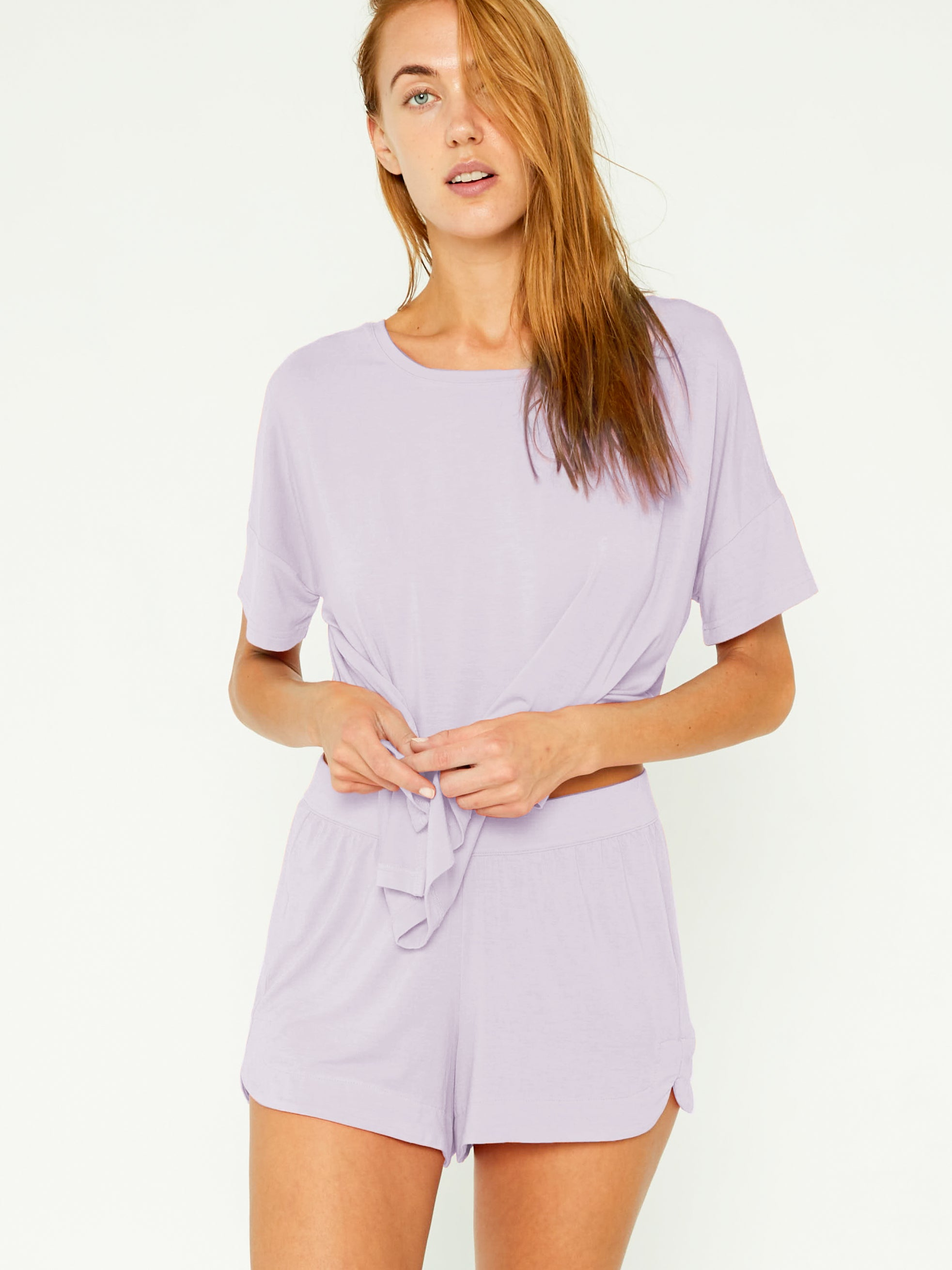 Sleep Tee Set - Lilac Smoke
