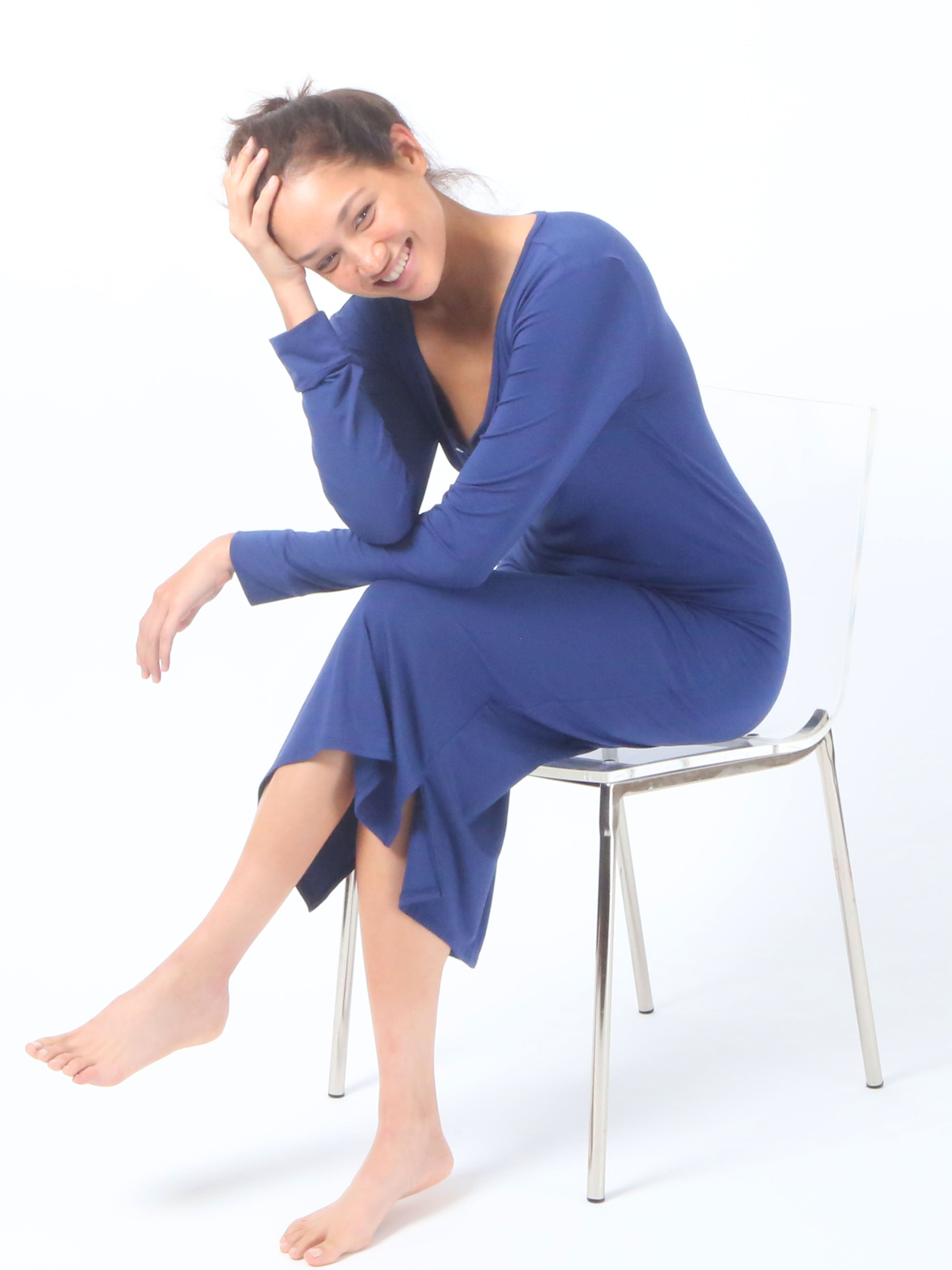Soothing Sleep Dress™ - Navy Blue