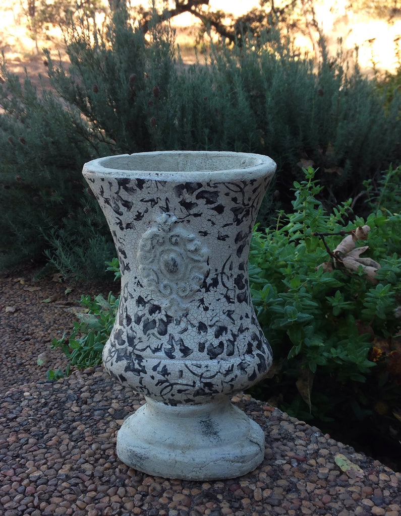 Newly designed old world vintage hand-pressed terracotta floral vase