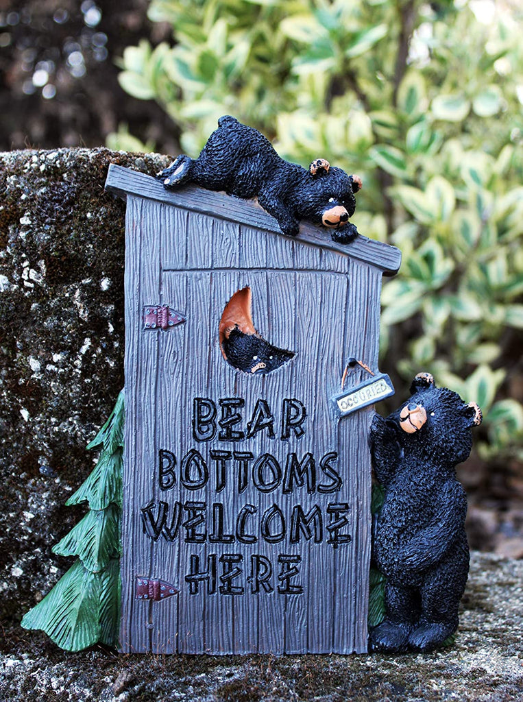 "Poly Resin Decorative Wall Plaque ""Bear Bottoms Welcome"""