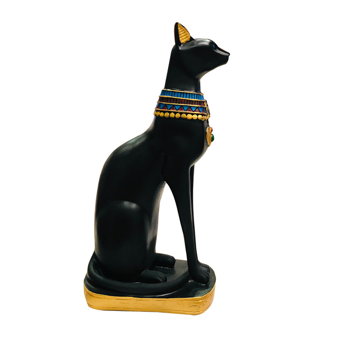 Black Egyptian Ancient Style Cat Goddess Bastet Statue. 2 sizes available.