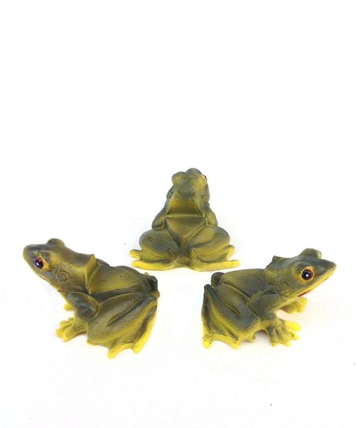 Animated Poly Resin Frog Shaped Pot Feet/planter Risers Set of 3