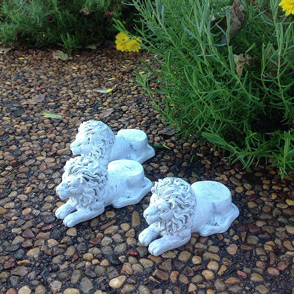 ef2b9ff1489a Animated Poly Resin Lion Shaped Pot Feet Planter Risers Set of 3 for large  pots