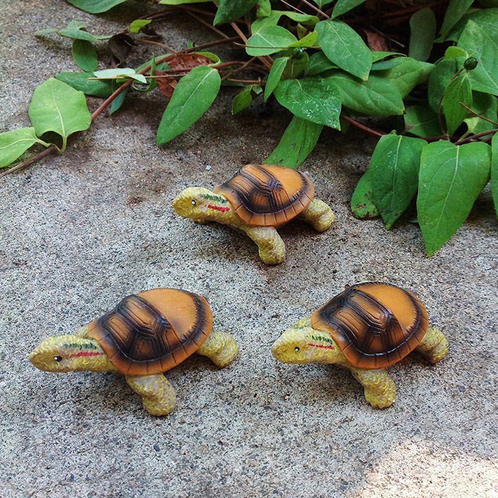 Animated Poly Resin Small Turtle Shaped Pot Feet/planter Risers Set of 3. Available in 2 sizes