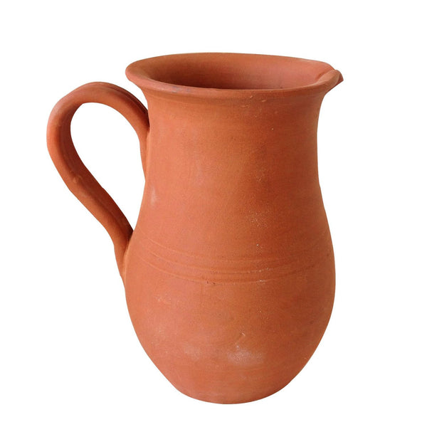 Hand Thrown Heavy Terracotta Pitcher Shaped Planter With