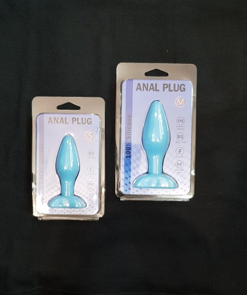 E.P 100% SILICONE ANAL PLUG BLUE VARIOUS SIZE SMALL