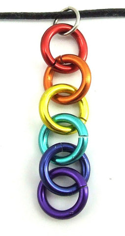 Drop Rings Rainbow Necklace
