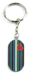 Leather Flag Military Tag Keychain