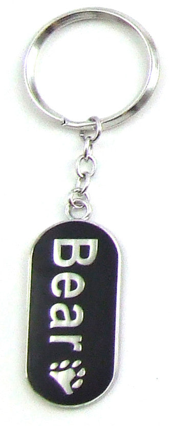 Bear Military Tag Keychain