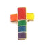 Rainbow Cross Lapel Pin