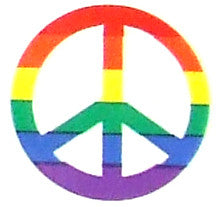 Rainbow Peace Sign Sticker Sheet