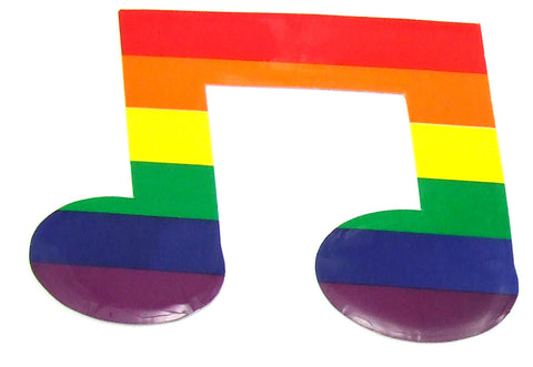 Rainbow Musical Note Sticker