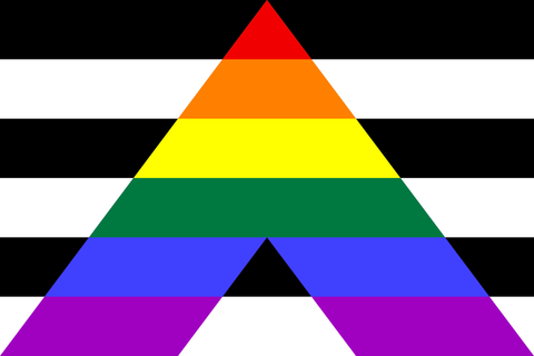 Straight Ally Flag Stick 4 x 6 in