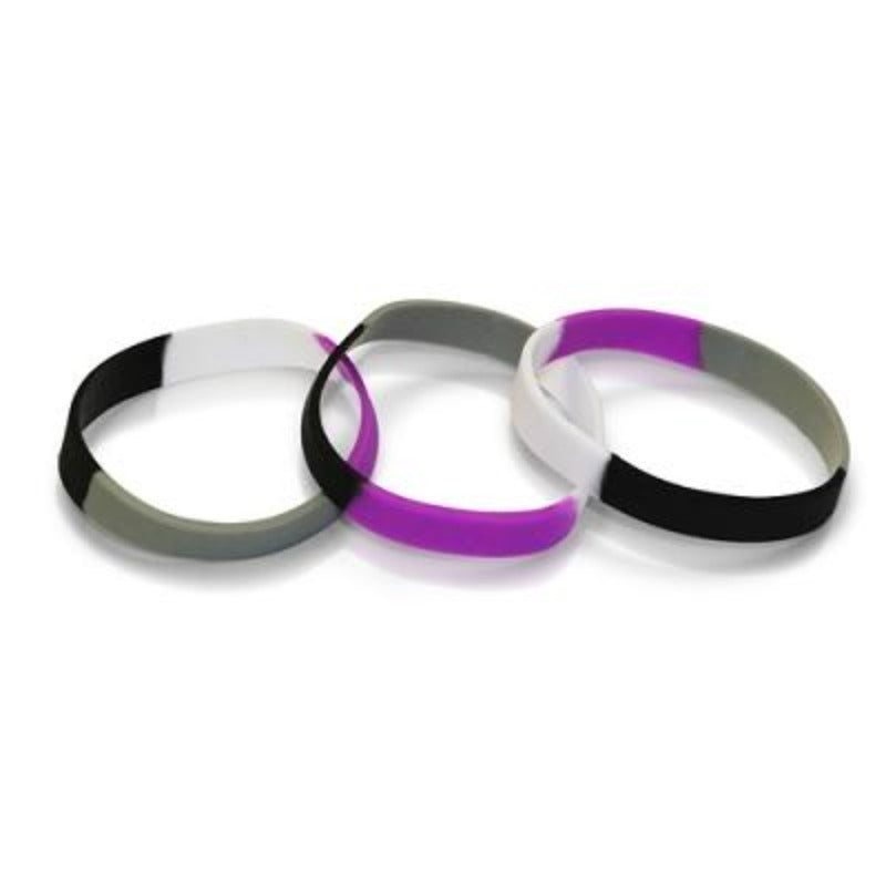 Asexual Pride Silicone Bracelet