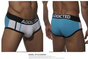 Addicted Boxer Brief White/Blue