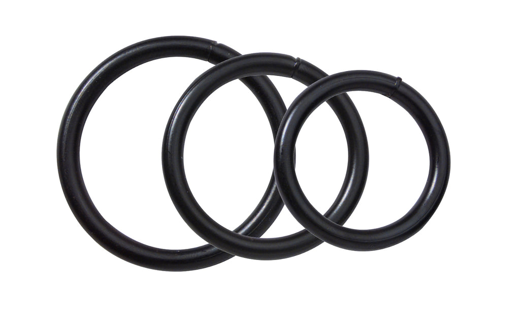 Black Steel Cock Ring Set