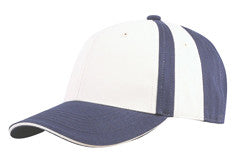 KNP Collegiate 8 Panel Cap Navy/White
