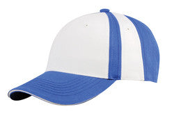 KNP Collegiate 8 Panel Cap Sky Blue/White