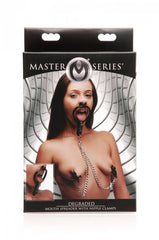 Master Series Degraded Mouth Spreader with Nipple Clamps