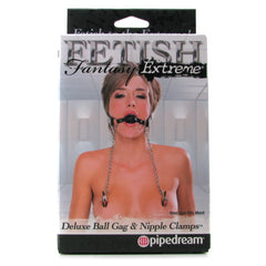 Fetish Fantasy Deluxe Ball Gag & Nipple Clamps
