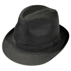 KNP Polyester Fedora Black