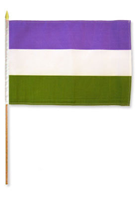 Genderqueer Flag Stick 12 x 18 in
