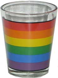 Rainbow Shot Glass