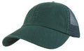 KNP Garment Washed Cotton Twill Mesh Back Cap Green