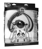 Master Series Hinder Ball Gag + Nipple Clamps