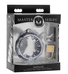 Master Series Impaler Locking CBT Ring with Spikes