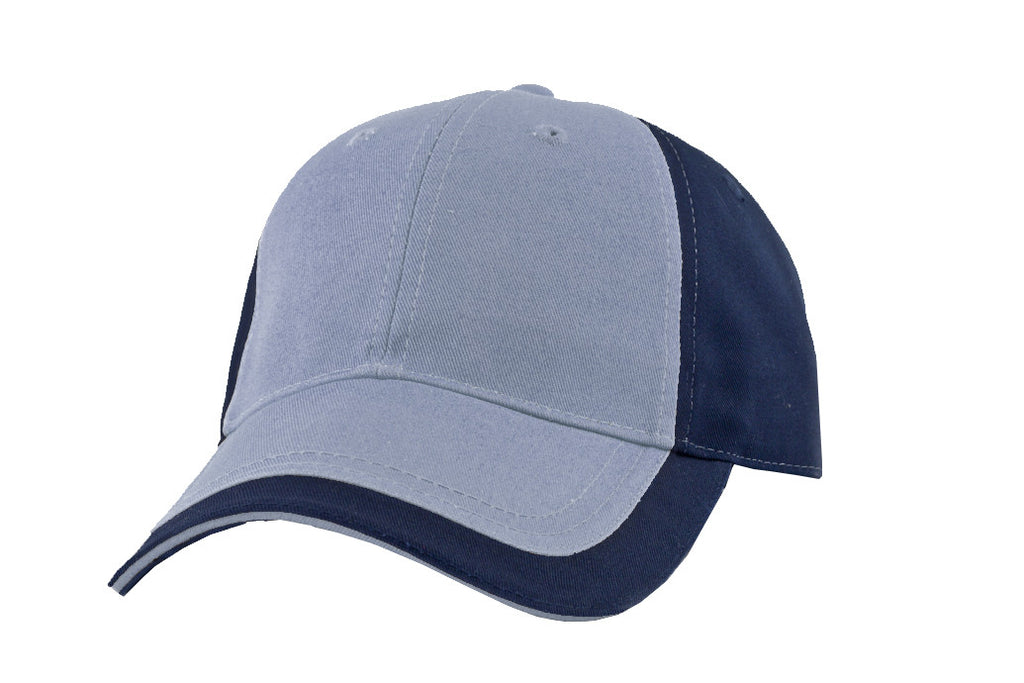 KNP Contrast Peak Chino Twill Cap Blue/Navy