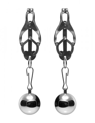 Master Series Deviant Monarch Weighted Nipple Clamps