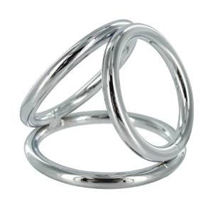 Chrome Cage Tri Cock Rings