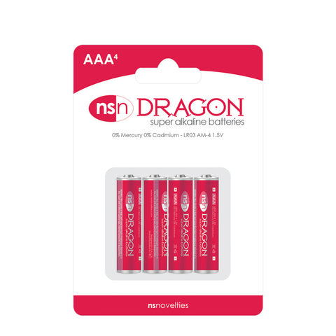 Dragon Super Alkaline Batteries AAA 4 Pack