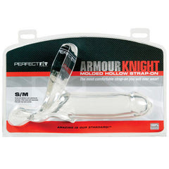 Perfect Fit Armour Knight Hollow Strap On - Small/Med