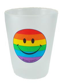 Rainbow Smiley Shot Glass