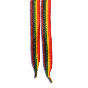 Long Rainbow Striped Shoelaces