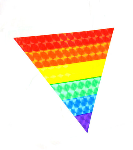 Reflective Rainbow Triangle Sticker