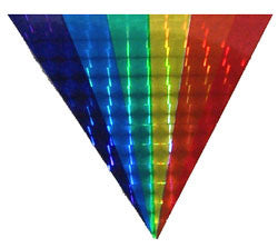 Reflective Rainbow Triangle Fan Sticker