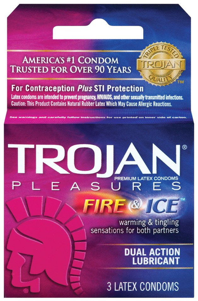 Trojan Pleasures Fire & Ice Condoms