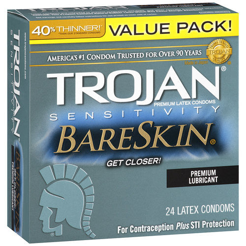 Trojan Sensitivity BareSkin Latex Condoms