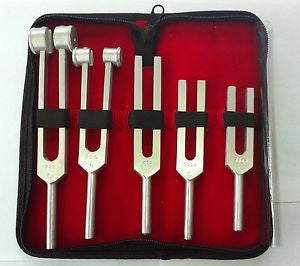 Aluminum Tuning Forks 5-pc Set