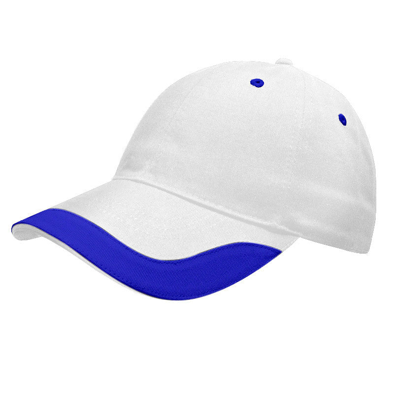 KNP U-Visor Chino Twill Cap White/Blue