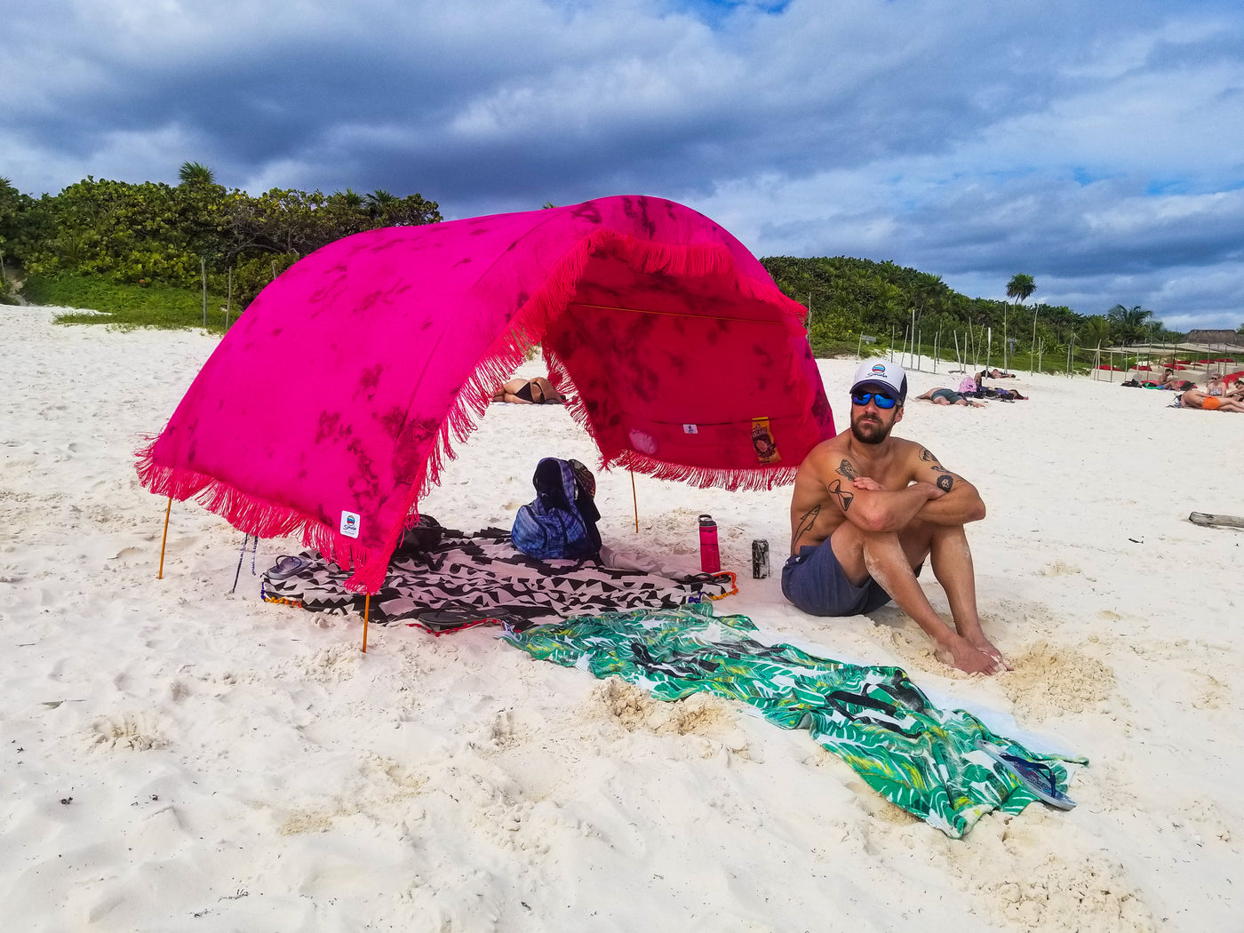 Portable Beach Cabana deluxe artisan dyed portable shade