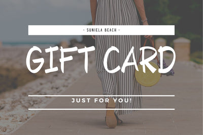 Suniela Beach virtual gift card for sthe best shade products
